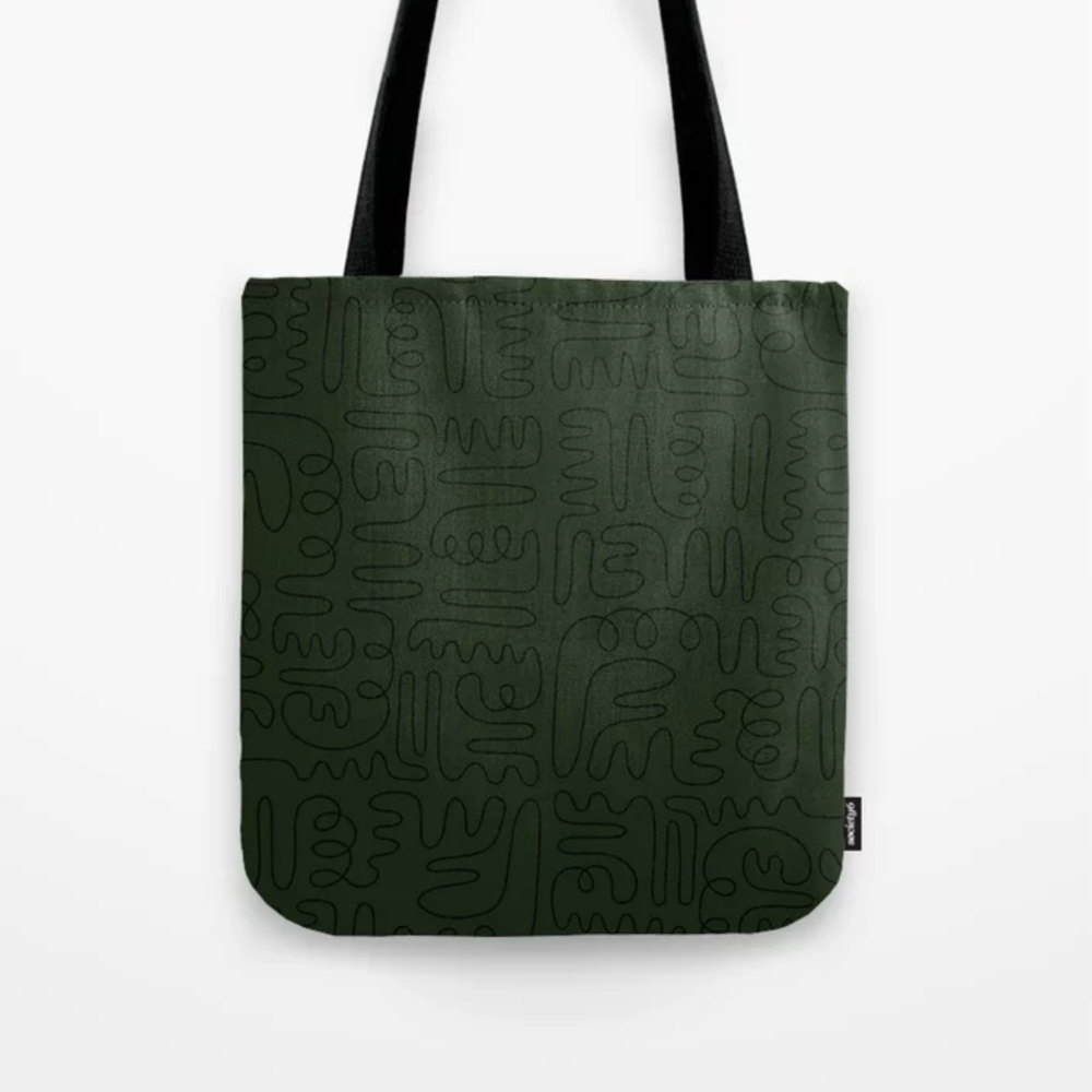 Loops & Curves Green Tote