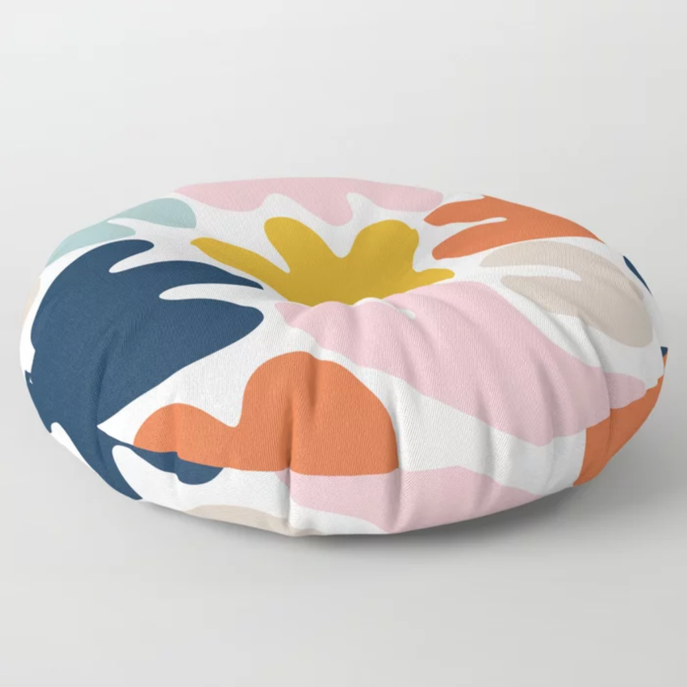Blob Collage Multi Floor Pillow