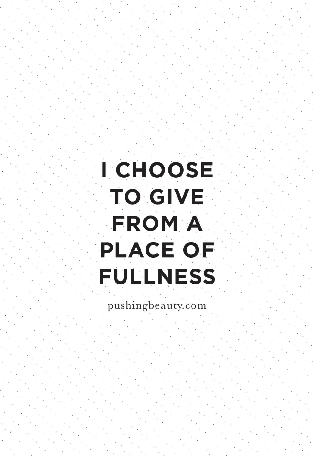 Prosperity affirmation | Pushing Beauty