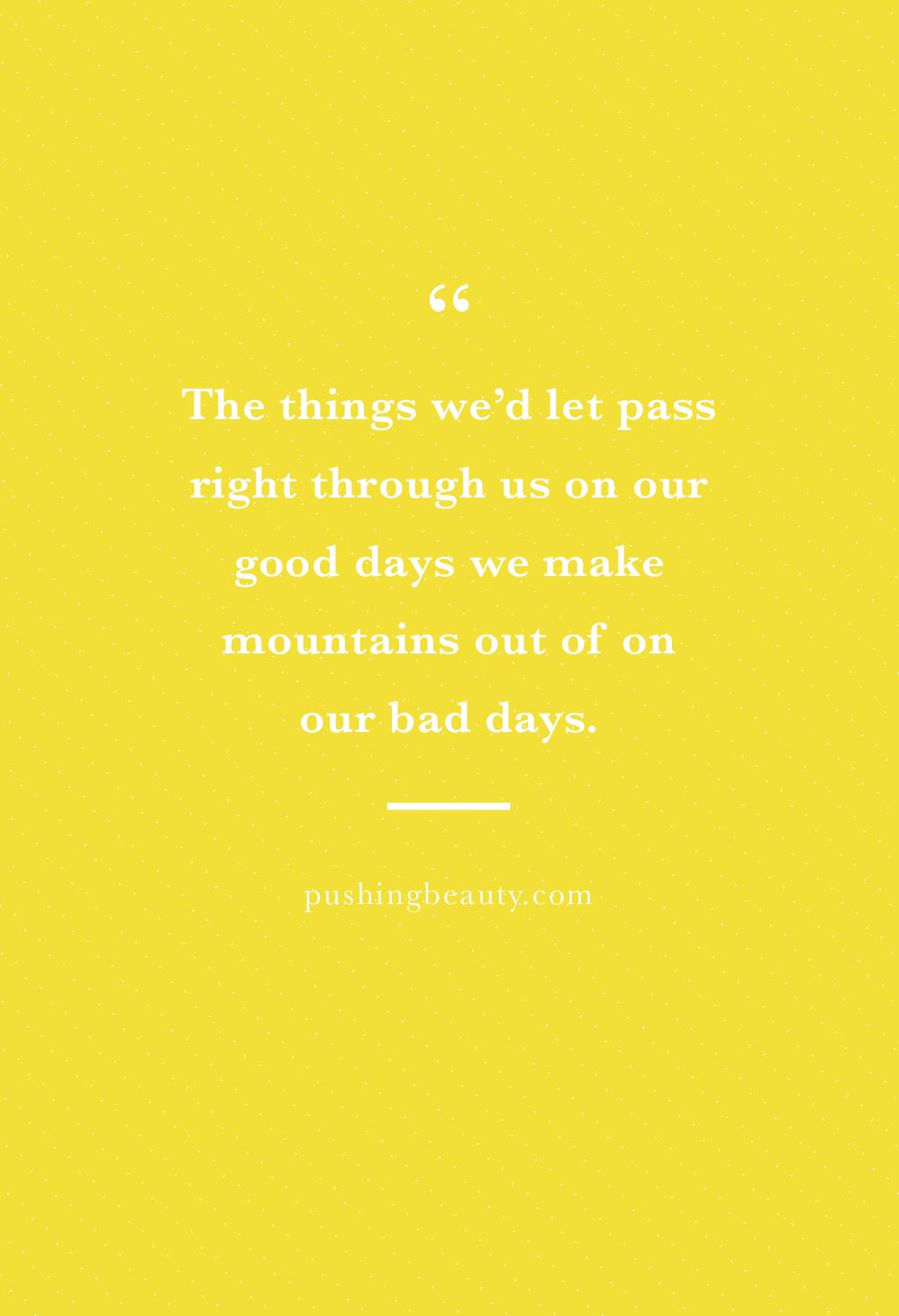 Negative thinking quotes | Pushing Beauty