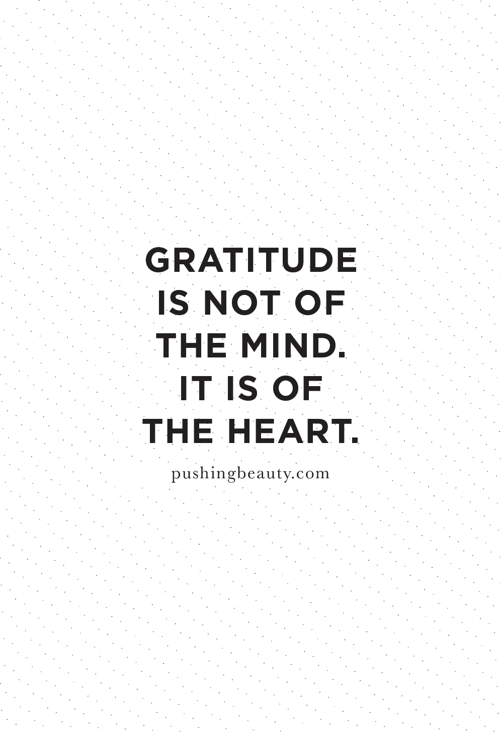 gratitude quotes | pushing beauty