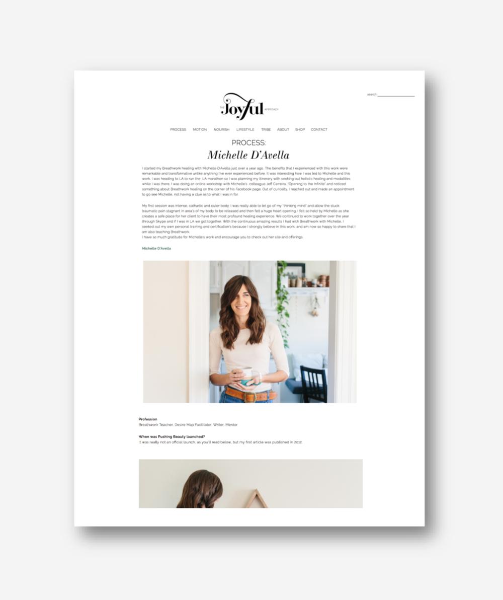 The Joyful Approach | Pushing Beauty