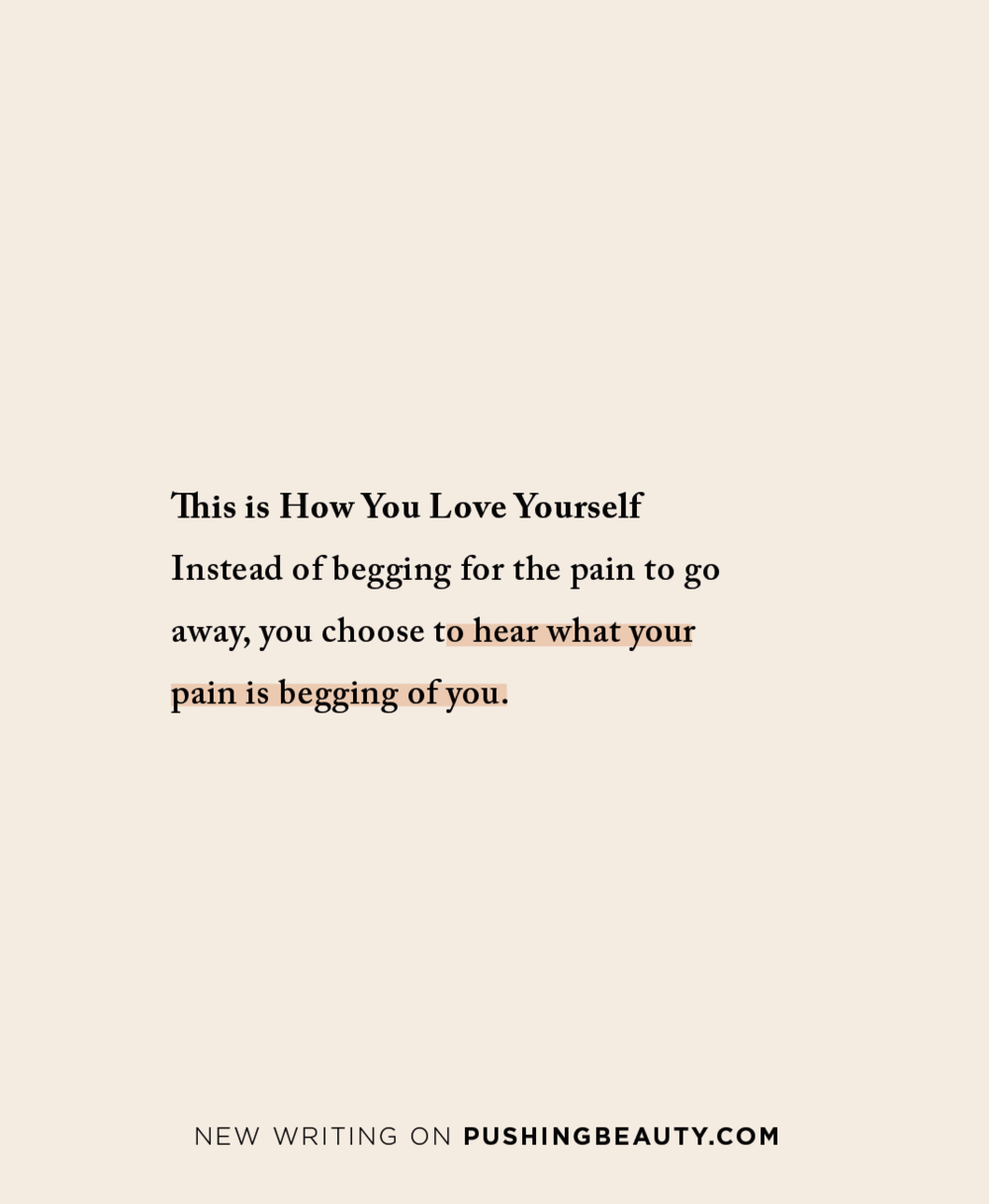 this is how you love yourself