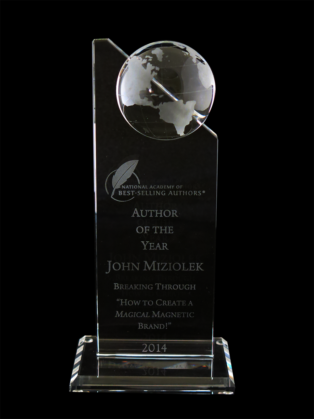 Author of the Year   Award  from the National Academy of Best Selling Authors