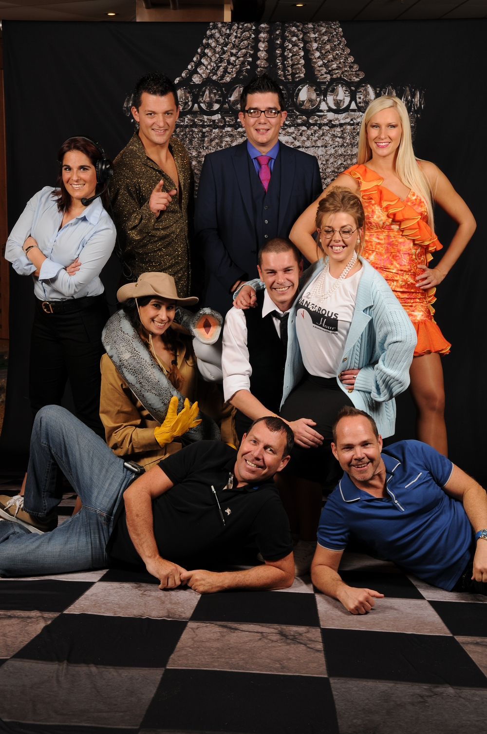 The cast of  The Dangerous Hour  on the Royal Princess, 2013