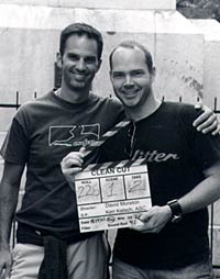 With director David Moreton on set in Argentina