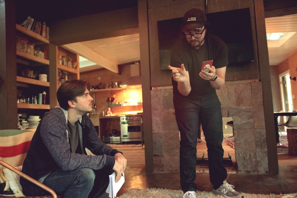 Andrew Messersmith (Director of Photography) and Christiano Dias on the set of HURRICANE, 2016.