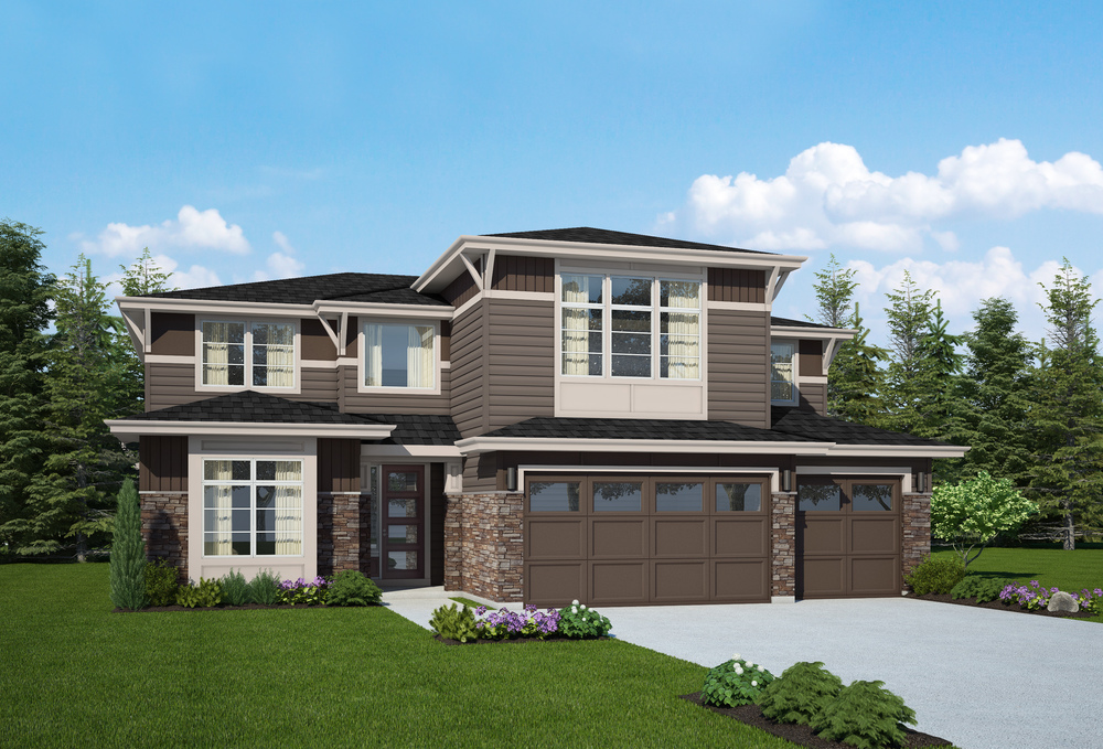 Our sales center at Braeton Woods: the Hartwell Plan