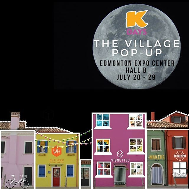 We're excited to be a part of The Village at #KDays this year! A new collaboration between @wildheart_yeg, @vignettesyeg & @northlandsedmonton, this pop-up market will be filled to the brim & bumping with local makers, artists, musicians & chefs!  Catch us there on July 21 & 22 from 12–9pm, and this unique market will run from July 20–29 in Hall B of the Edmonton Expo Centre!