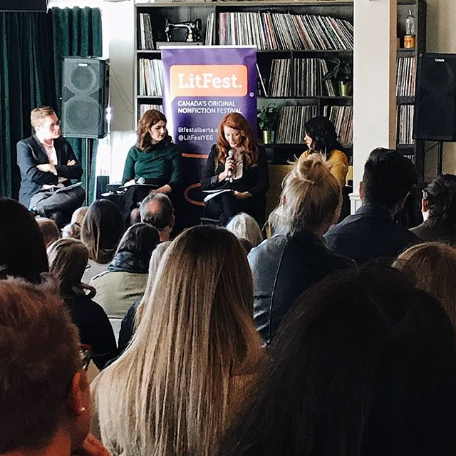 "Thank you to everyone who joined us for our sold-out @litfestyeg event at @thecommonyeg on Saturday, ""#MeToo: One Year Later""! We hope that everyone continues the conversation that our panellists @katherinephopkins, @mishmamukith & Kara Annett added their voices too. 📸: @karynwiss"