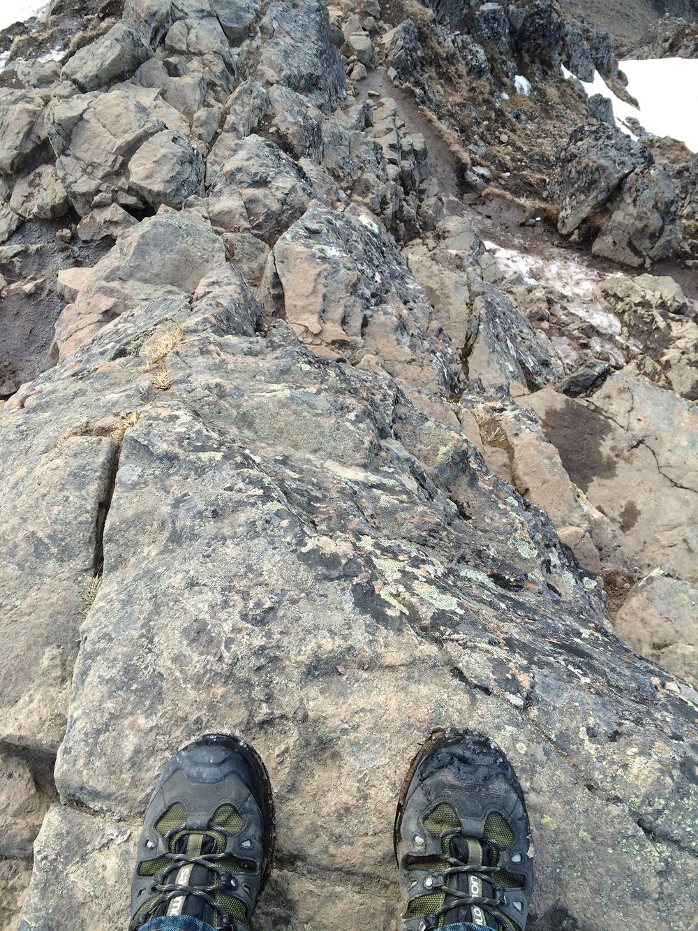 Above Flattop mountain (iPhone 5s photo)