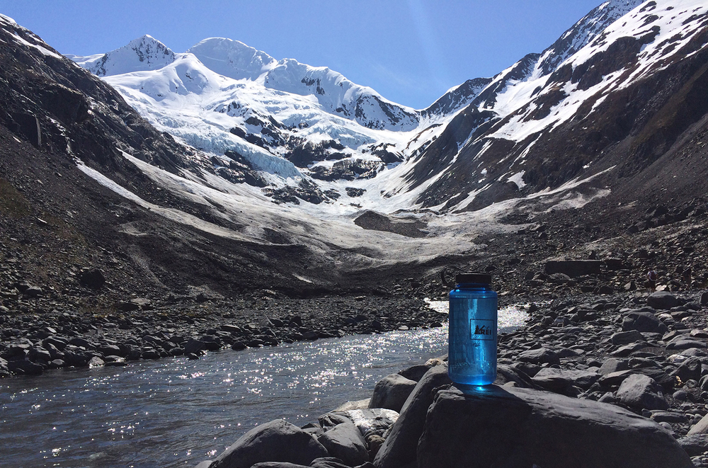 Bryon glacier supplying the freshest water
