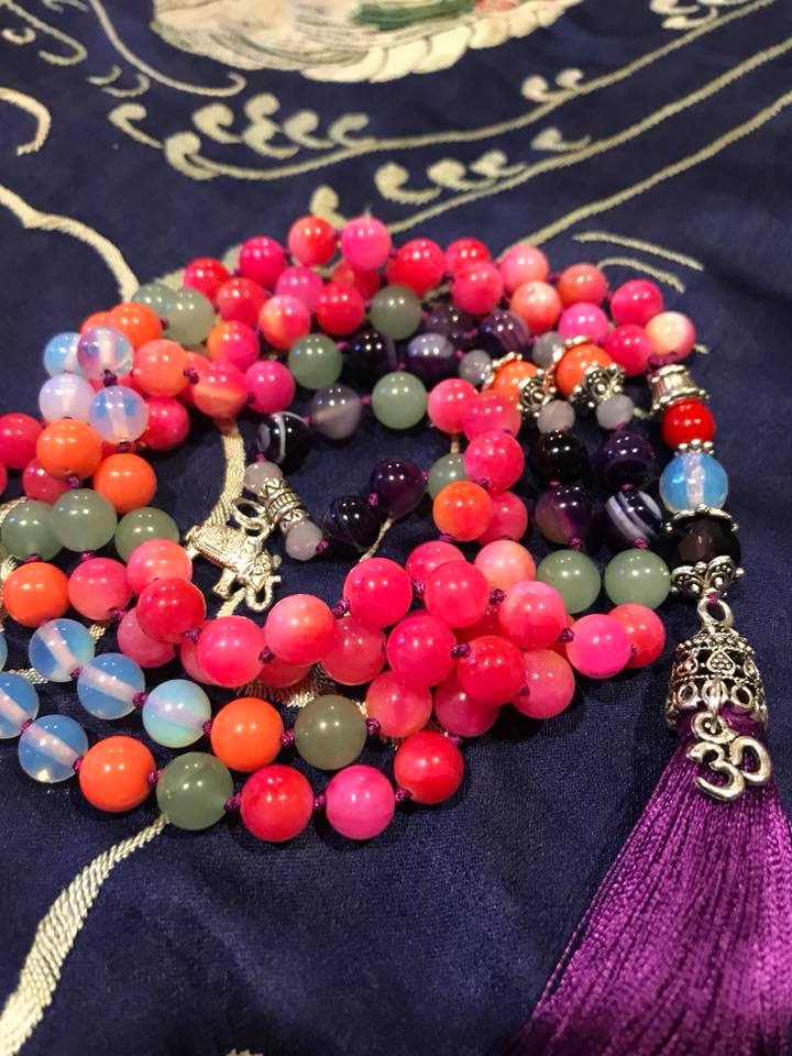 My beautiful mala, which I still need to name.