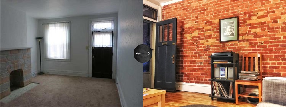 Exposed Brick Wall (Before and After)
