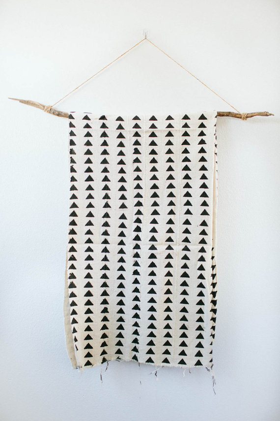 Black + White African Mud Cloth