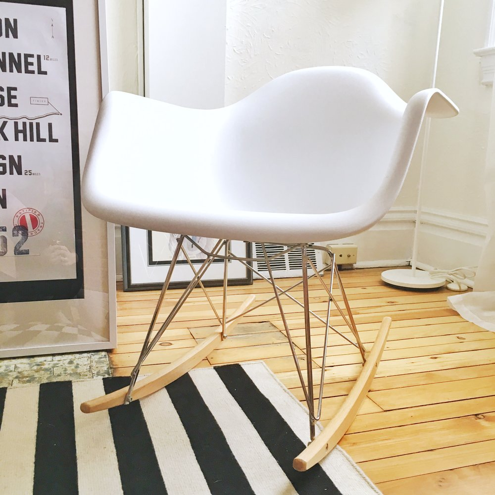 Eames Style Rocking Chair -