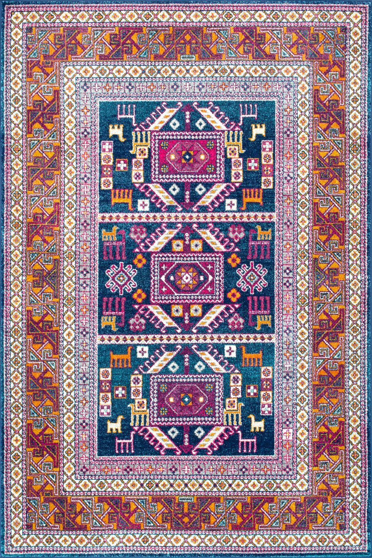 Bosphorus Tecumseh Tribal Tale Triptych Rug
