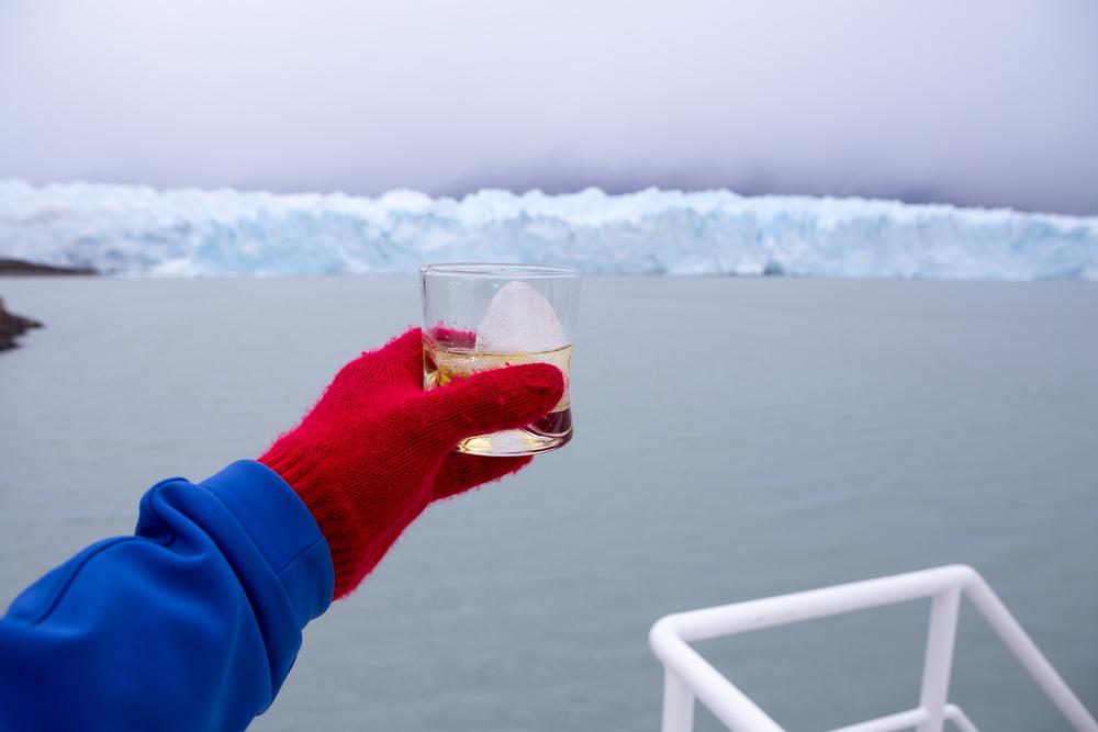 Whisky + glacier Ice!