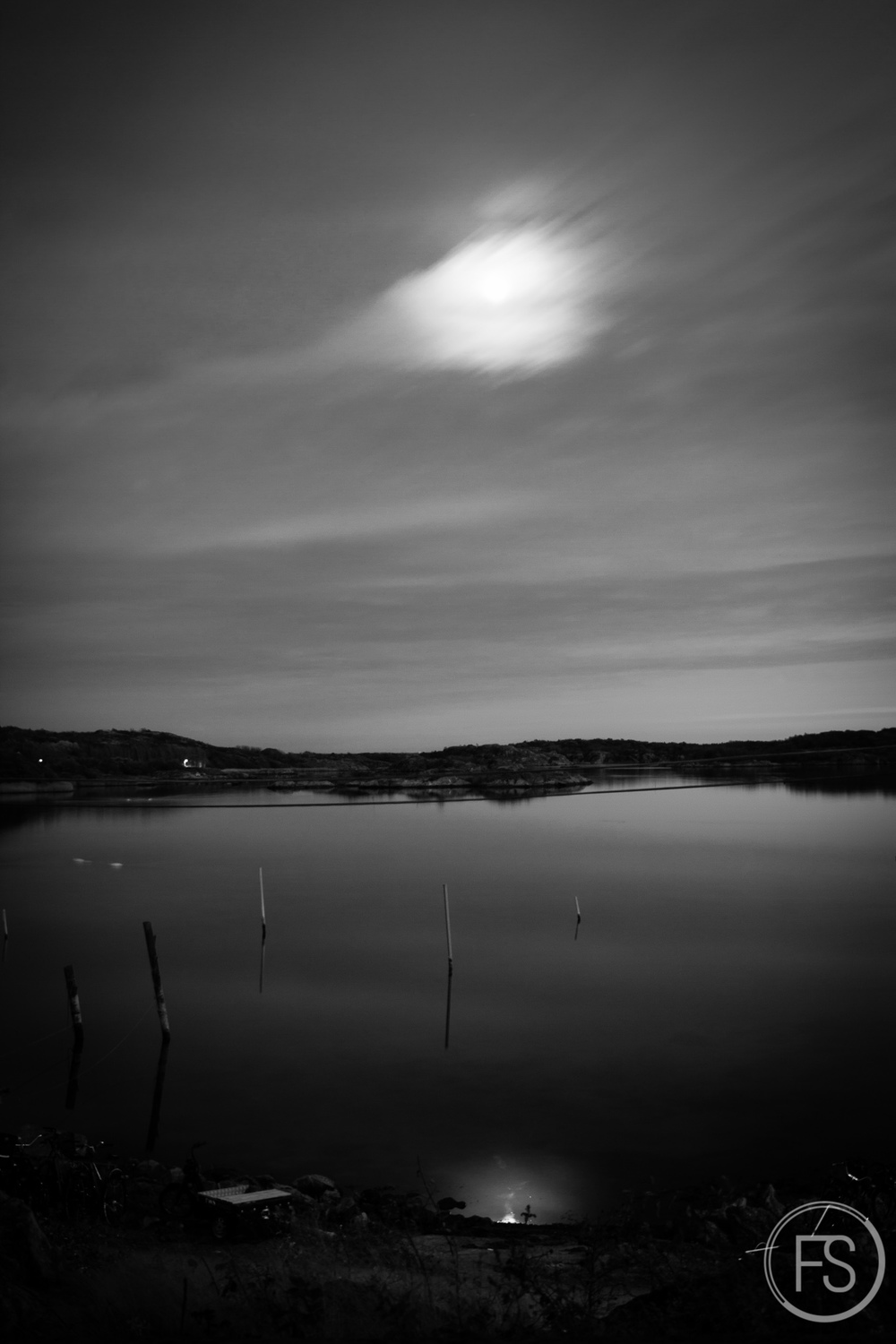 Long exposures can produce weird results, especially in black and white!