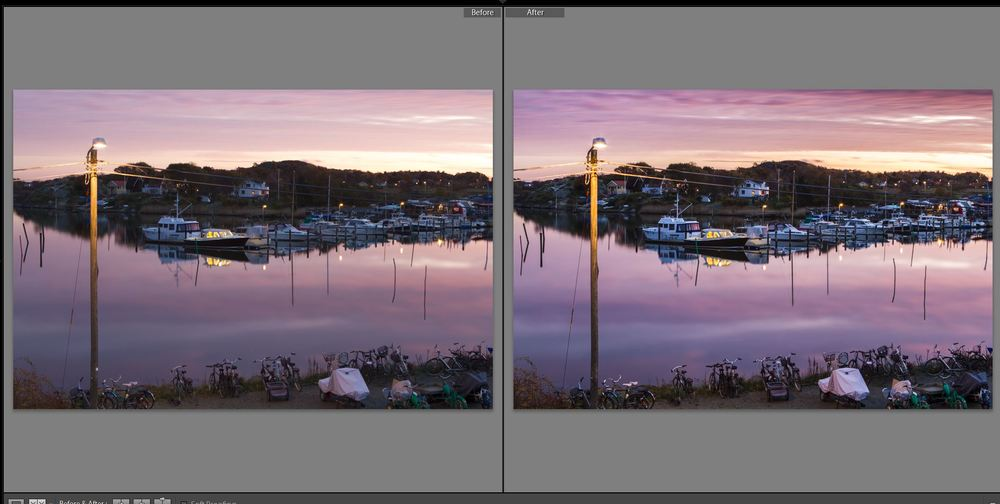 Only minor modifications through Lightroom