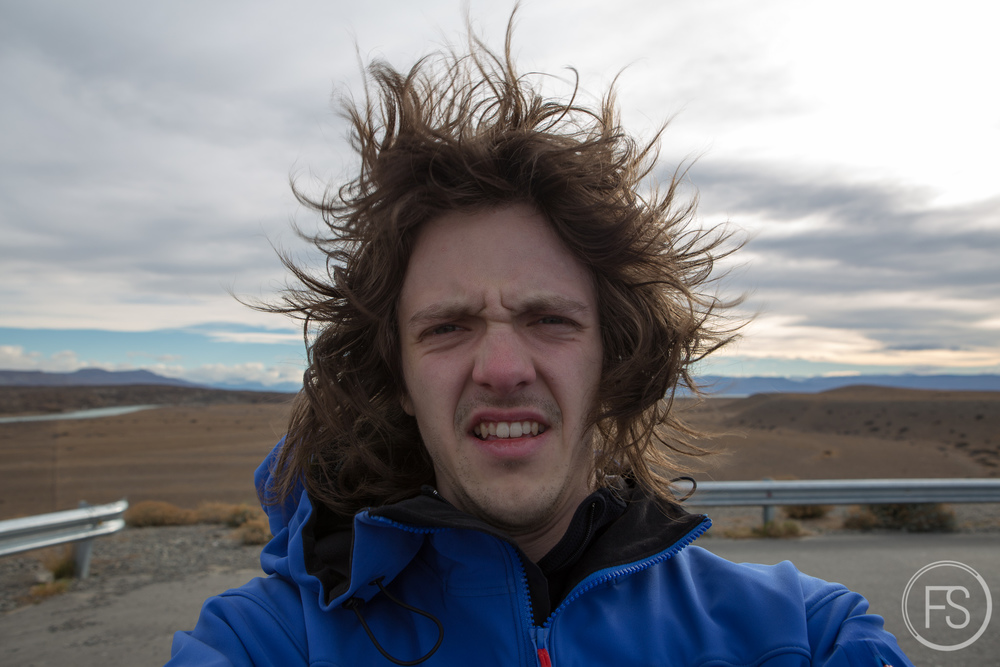 Some serious wind in Patagonia, not so nice.