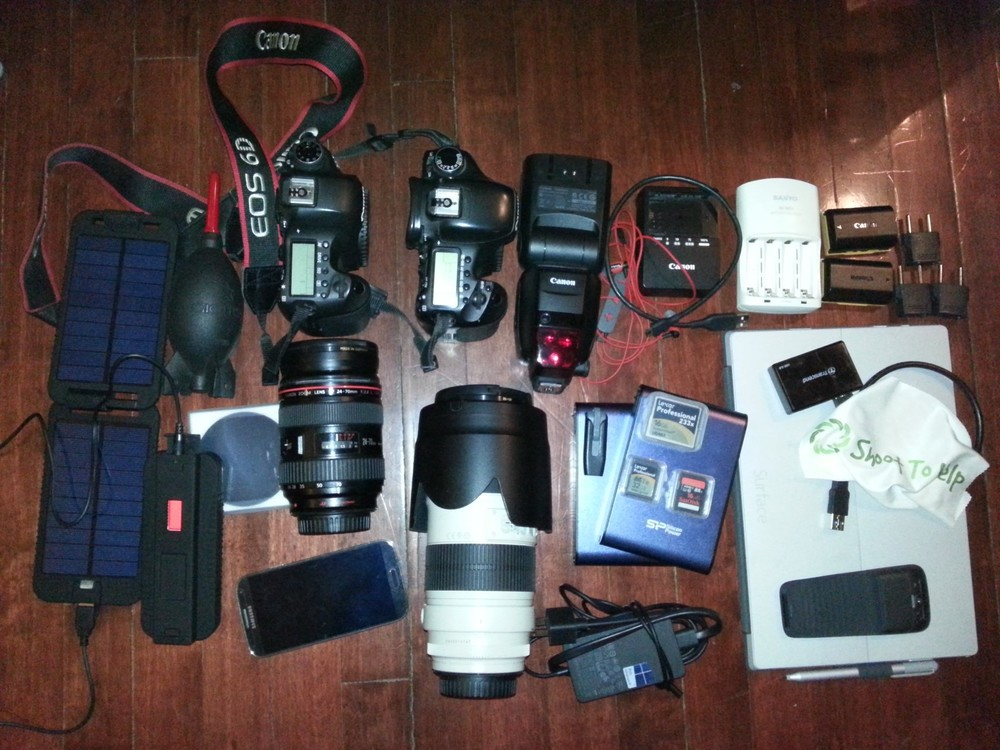 all the photo and electronic equipment