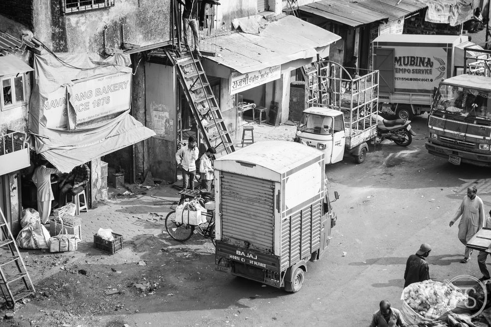 aerial shot of Dharavi, you are not allowed to take pictures inside!