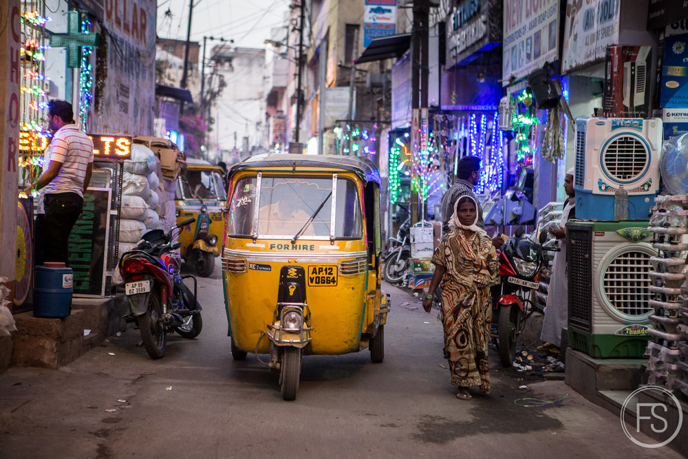 Colors, rickshaws, shops, lights, sound, everything is happening in Hyderabad!