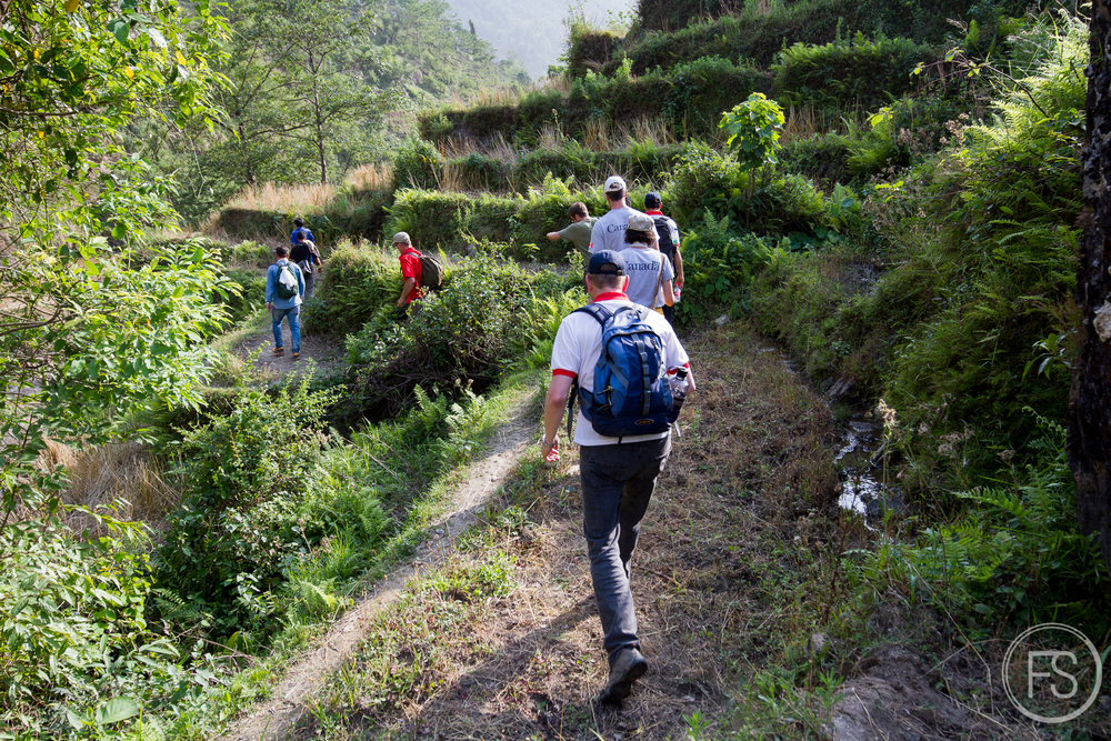 Now let's walk in the sun in the hills for 20 KM but watch out for the incoming boulders and landslides!