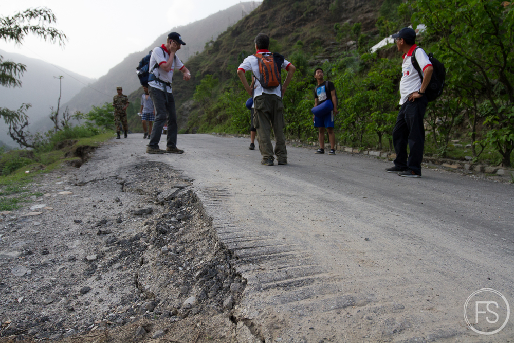 When you see the roads you realize how strong the earthquakes really are. The height of the movement is huge!