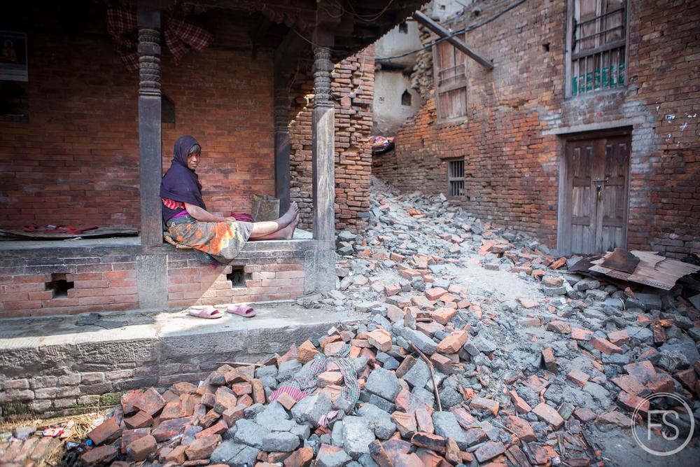 Bakhtapur fut incroyablement touchée.