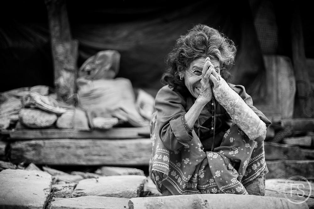 Un être humain au Népal