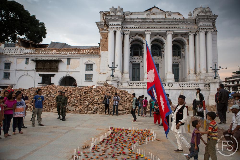 Recueuillement au Durbar Square