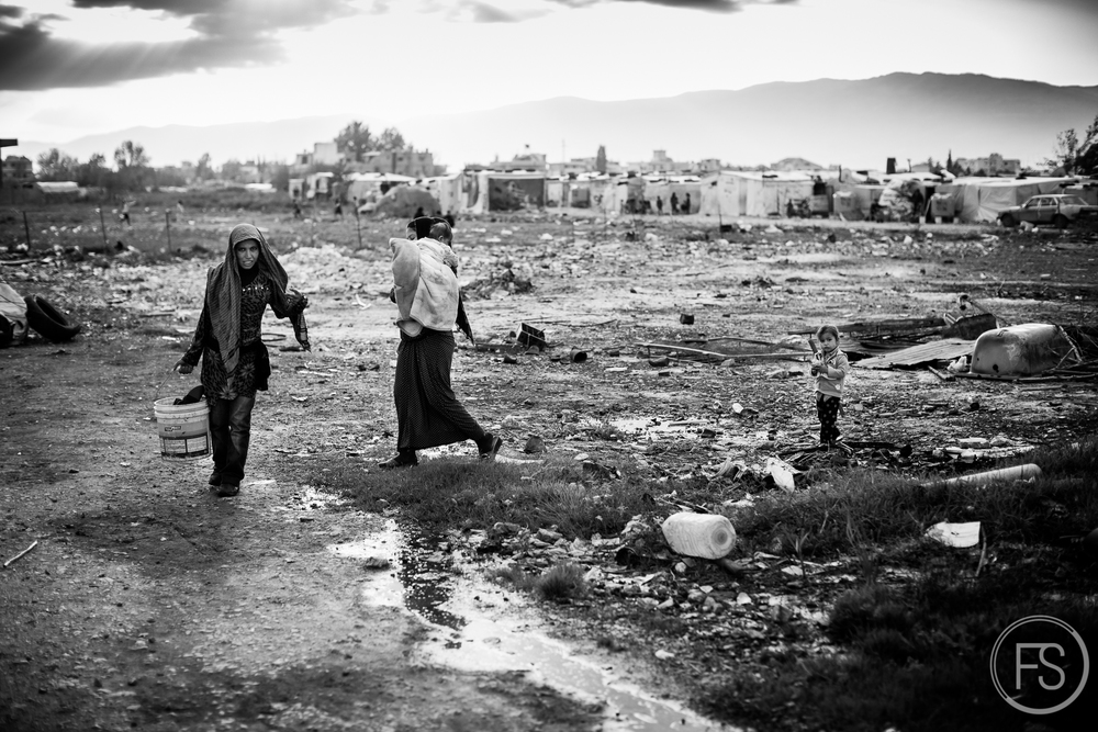 The long term camps in the Bekaa valley in Lebanon.