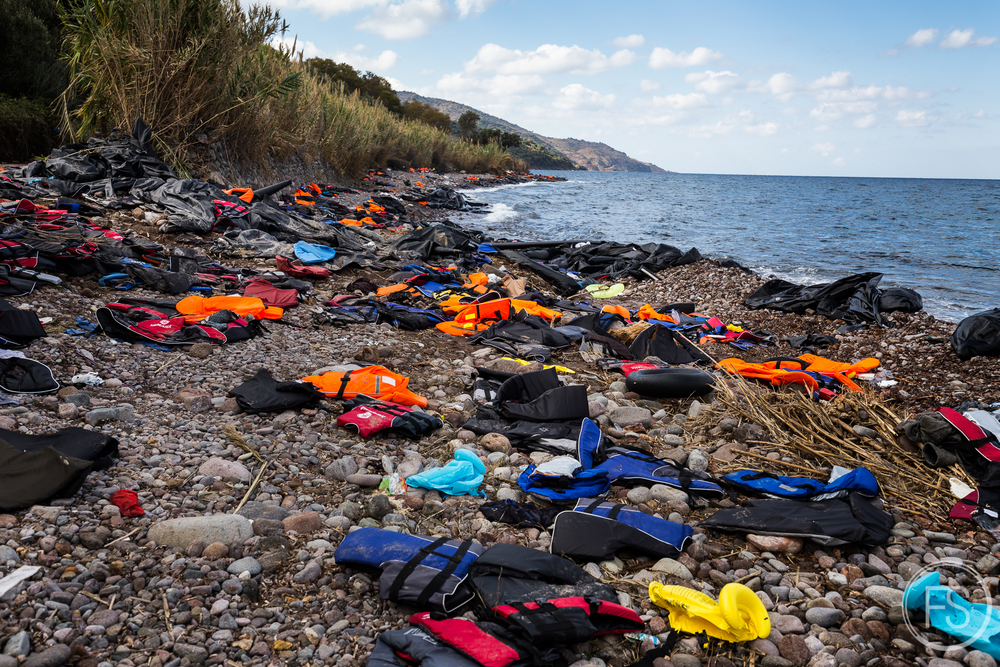 Trash covers the beaches as far as one can see. Skala Sikamineas is one of the busiest beaches for the arrivals and a very important quantity of trash ends up here.