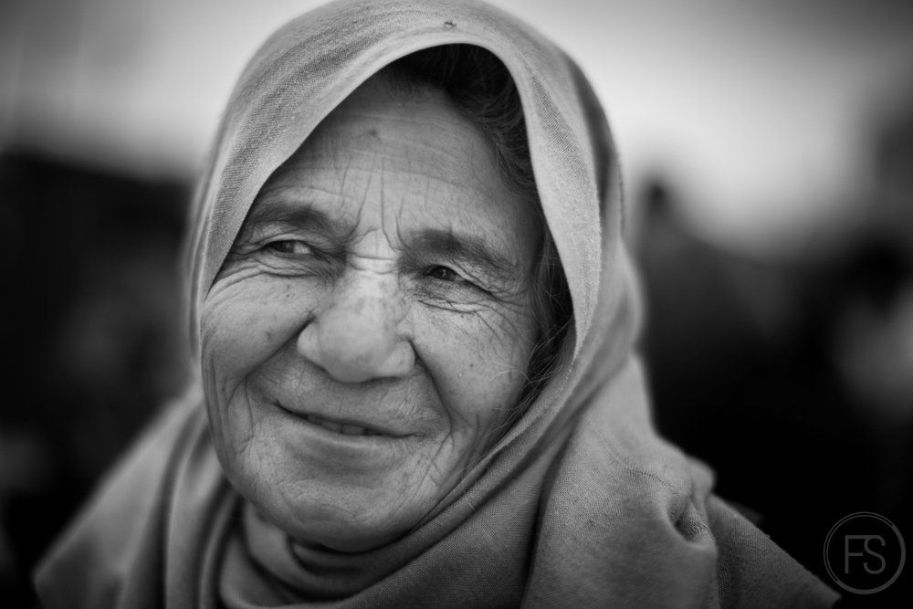 Even in all the difficulties, smiles of hope shine on the faces of the old. They are following what is most important for them; their family. Gevgelija, Macedonia.