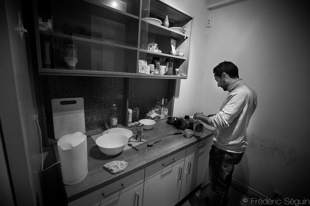 Refugees live up to three together with others from their countries and can finally live a more normal life. Just being able to cook for yourself or have a place to call home was something crucially missing for them.Eberswalde, Germany.
