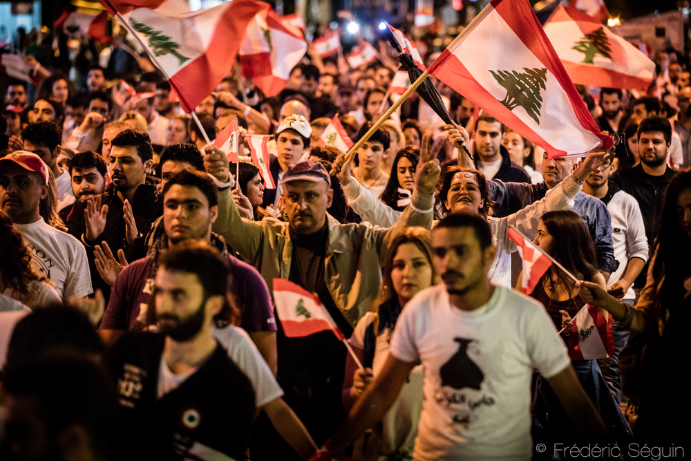 Hundreds of Lebanese take the streets of Beirut to protest peacefully to ask solutions from the Government to the garbage crisis. The social movement has been going on for months and the people are eager to see solutions. October 29th 2015.