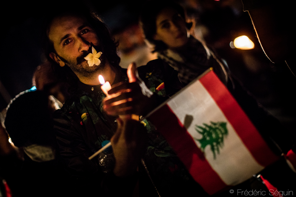 Hundreds of Lebanese take the streets of Beirut to protest peacefully to ask solutions from the Government to the garbage crisis. October 29th 2015.