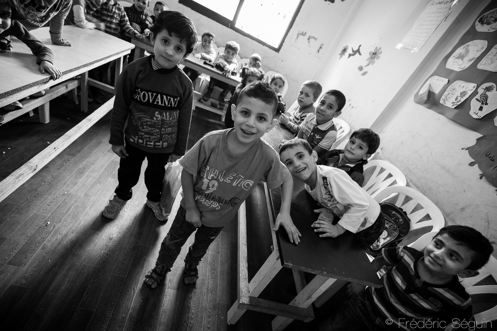 Children attend a school supported by local NGOs. Education is an important aspect of the lives of these children and as always the most powerful tool for their future.