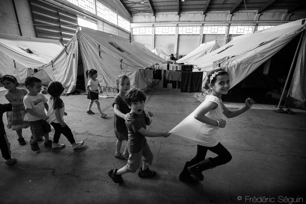 Oreokastro camp, Thessaloniki area, Greece. 2016.