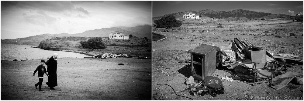 Maintenant désertes, certaines plages reculées présentent encore les signes d'une intense activité passée. Ile de Lesbos, Octobre 2015/Juin 2016.
