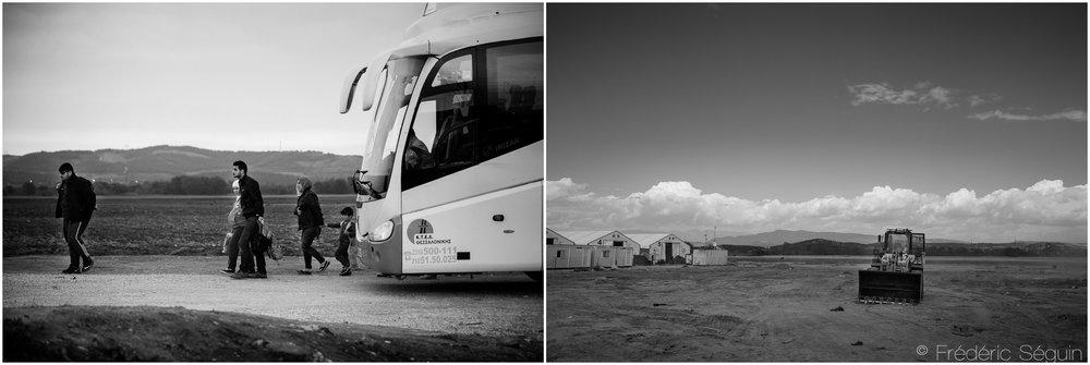 À la frontière Nord de la Grèce avec la Macédoine,Idomeni fut autrefois un point de transit rapide pour devenir ensuite le plus grand camp de réfugiés en Europe. Plus de 15 000 migrants ont habité le camp dans l'espoir que la frontière allait ré-ouvrir. Espoirs déchus, le camp a été évacué et il ne reste maintenant que des traces du village improvisé. Idomeni, Grèce. Octobre 2015/ Mai 2016.