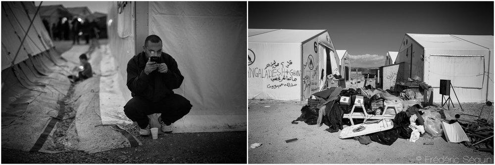Là où des milliers de personnes ont établit refuge et résidence temporaire, il ne reste plus que des indices de vies passées. Idomeni, Grèce. Octobre 2015/ Mai 2016.