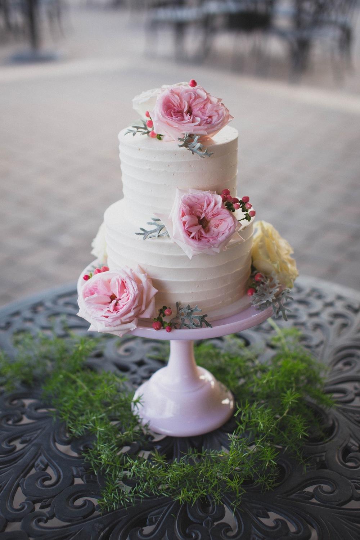 Mosser Tuscan Pink Cake Pedestal