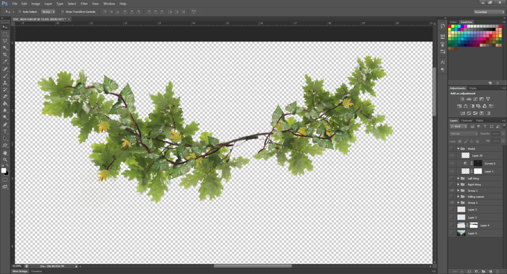 Composite of branches