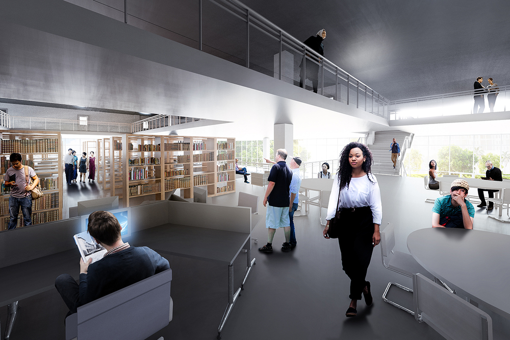 Second Level Secondary School Interior Rendering