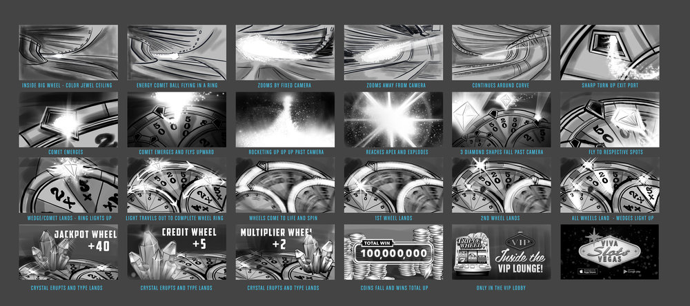 Storyboard concept for collaboration with motion designer MARNIX.