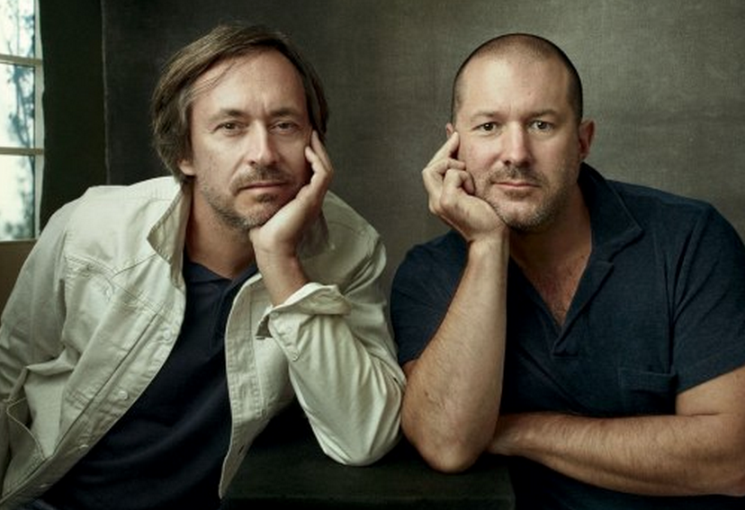 Apple industrial designer Marc Newson and SVP of design Jony Ive would likely play a vital role in the design (both hardware and software) of an Apple Car. Photo courtesy ( Vanity Fair ).
