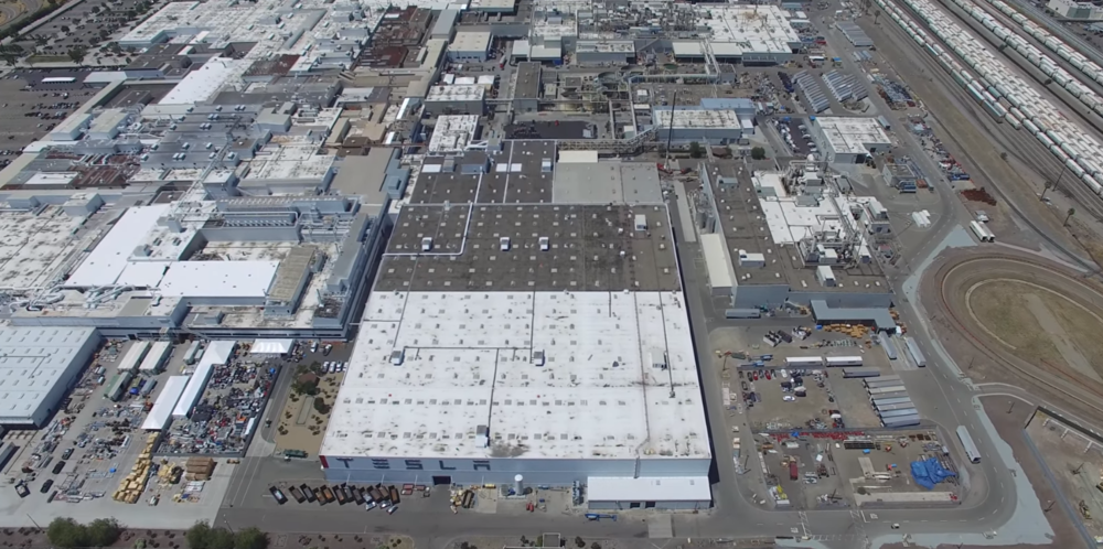 The Tesla Factory in Fremont, California